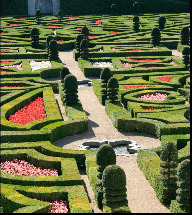 Castle gardens Finding France