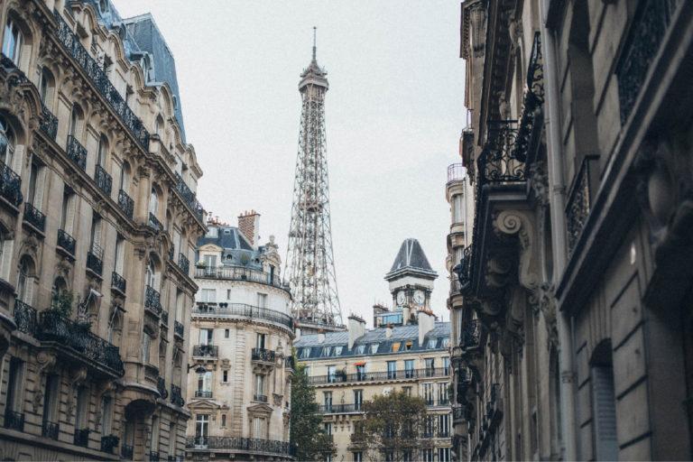 Parisian street eiffel tower Finding France